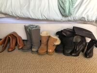 three pairs of brown leather boots Ashburn