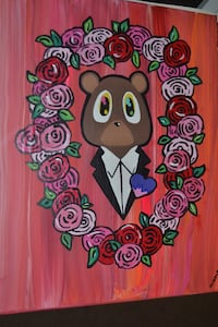 Kanye West College Dropout Bear Painting Gaithersburg, 20877