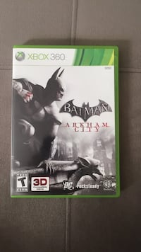 Batman Arkham City Xbox 360 game case Fairfax, 22031