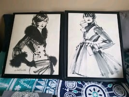 Fashion Illustrated Wall Art Decor