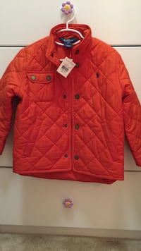 red quilted button up high neck jackets San Diego, 92127