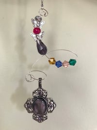 Handmade Wire Ornaments Beads Glass Metal Car Charms Suncatchers Silver Pendant Butterfly Accent Home Decor Hanover, 17331