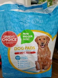 DOG PADS X-LARGE SIZE  Aprox 50 pads in bag Vaughan, L4L