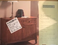 Brand New in Box: Home Trends 2-Drawer Console Table | Walnut Palatine, 60067