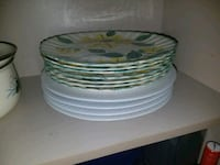 white and green ceramic plate lot Alexandria, 22304