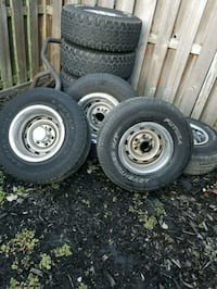 15x7 or 8, chevy 6 lug, all bands missing one cap. Woodbridge, 22191