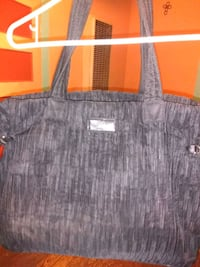 gray and black leather tote bag 963 mi