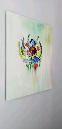 white, blue, and red floral painting Fairfax, 22033