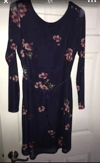 women's black and red floral long sleeve dress Washington, 20024