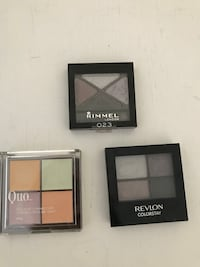 three Rimmel, Revlon, and Quo make-up palettes 里士满, V6Y 2T4