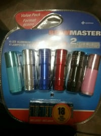 6 led flashlights and batteries Winnipeg, R2M 4H3