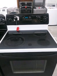 Whirlpool Black & White Glass Top Stove