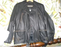 Womens motorcycle leather jacket Medium size