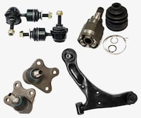 CONTROL ARMS ,TIE RODS, WHEEL BEARING , BRAKE ROTORS + MORE
