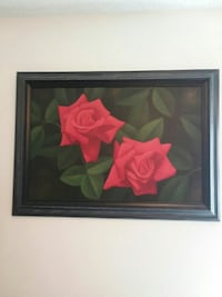 two red-rose framed painting Brownwood, 76801