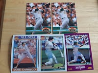 5 Jose Canseco Baseball Cards... $2 Firm Calgary