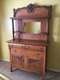 brown wooden dresser with mirror Ottawa, K1C 5V2