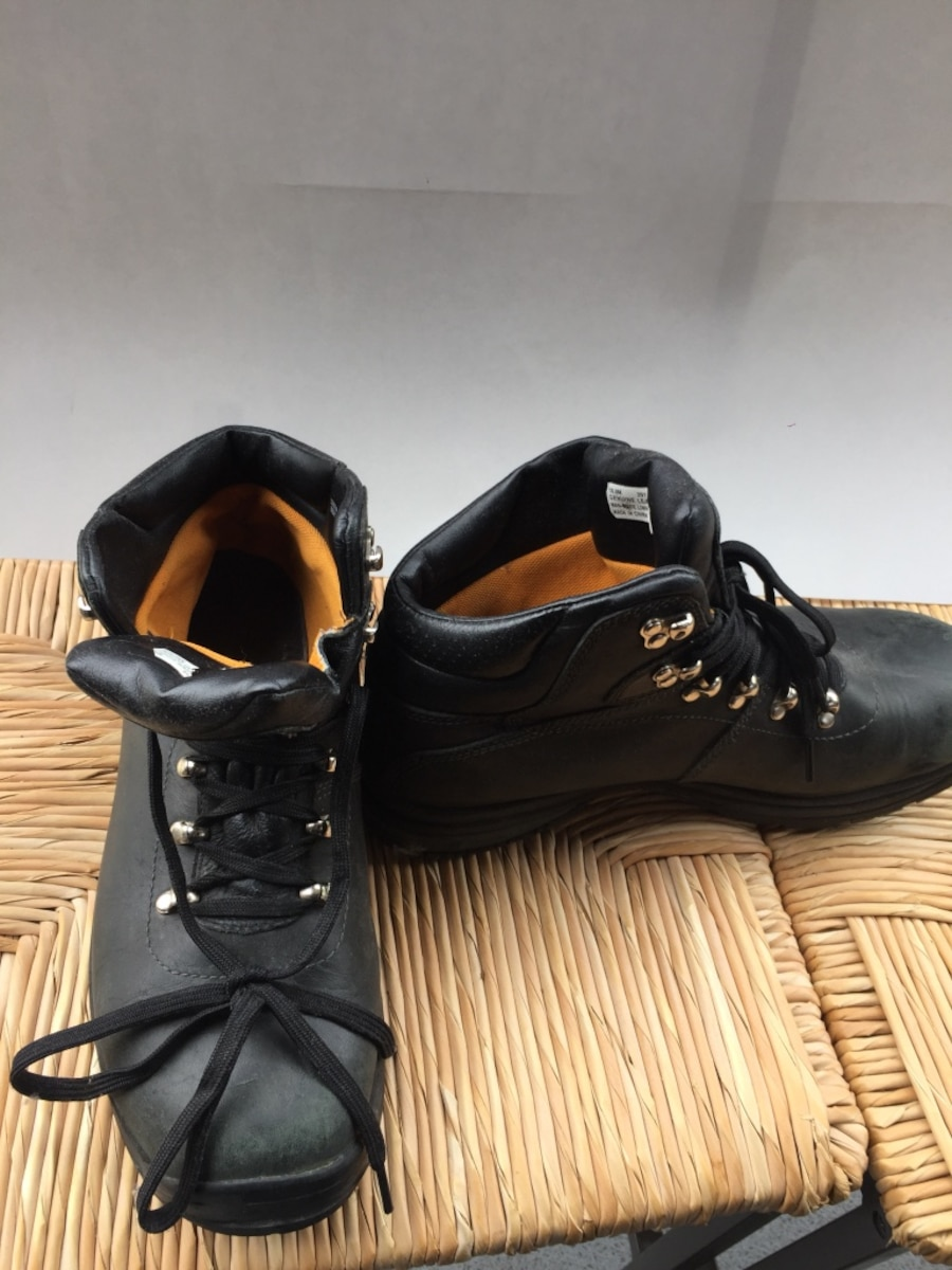 Black leather work boots - Longueuil