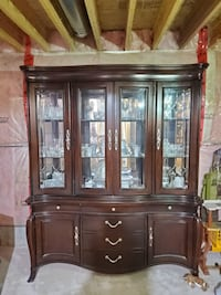 Wooden Hutch and Buffet (Negotiable)