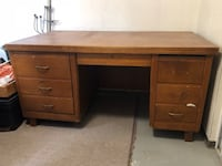 Brown wooden single pedestal desk Toronto, M6K 3G7