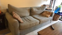 brown suede 3-seat sofa Reston, 20190