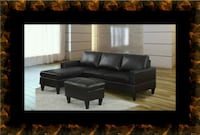 Black sectional with ottoman McLean