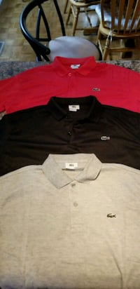 3 Large Never Worn Lacoste Polos for $100 Oshawa