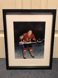 Dennis Hull signed and framed photo Châteauguay, J6K