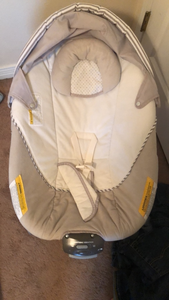 baby's white and gray bouncer for sale  Pensacola