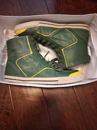 Just Cavalli Alta Green Leather Sneakers - $70