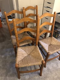 4 handcrafted Vermont made dining chairs.