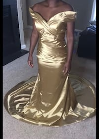Gold mermaid gown Fairfax, 22033