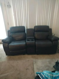 two black leather sofa chairs Hartsville, 29550