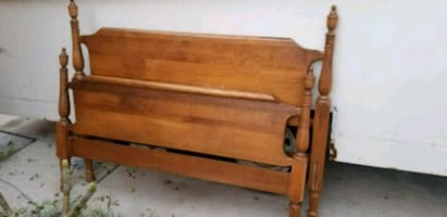 Double bed frame... 1960's.