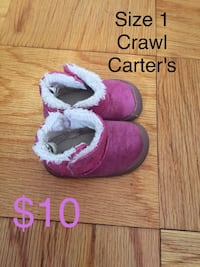 pair of sized 1 toddler's purple winter boots New Rochelle, 10805