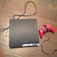 black Sony PS3 slim console with controller San Diego, 92120