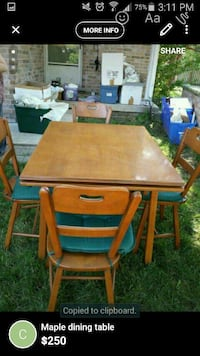 Maple Dining Table NEED GONE TODAY