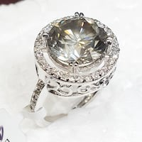 "14K White Gold Champagne Solitaire Diamond ""Rare"" Vs2, 5.04Ct 5.86Gm 多伦多, M6J 1T8"