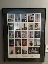 Very cool framed picture of lighthouses  Portsmouth, 23701