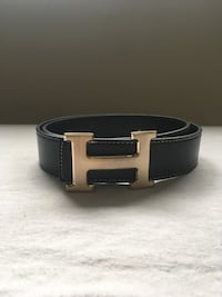 Gold Buckle Hermes Black Rep Belt Mississauga, L5N 7L7