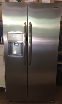 stainless steel side-by-side refrigerator with dispenser Clover, 29710