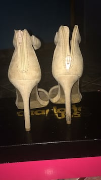 pair of beige platform stilettos Hialeah, 33016