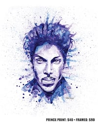 Prince watercolour painting  Edmonton, T5H 2W2