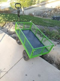 green steel wagon