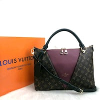 women's brown Louis Vuitton leather tote bag Marion, 78124