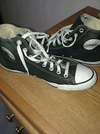 pair of black Converse All Star high-top sneakers West Chicago, 60185