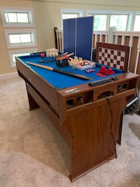 brown and blue wooden pool table Jefferson, 30549