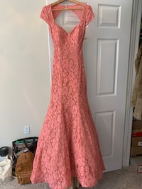 Pink long lace prom dress Annapolis, 21401
