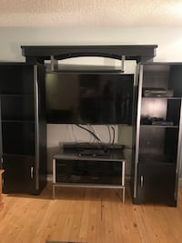 Black wooden tv hutch - 3 pieces 3118 km