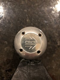 Momo Stainless Steel Shifter Knob & Leather Boot